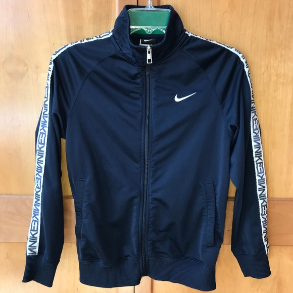 b249dc237 Nike Jackets & Coats | Repeat Tape Navy And White Track Jacket ...